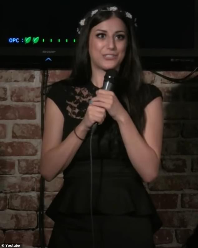 Tongue-in-cheek: During one performance at California's Leche Lounge in July 2013, Nivine made several jokes about sex and dating