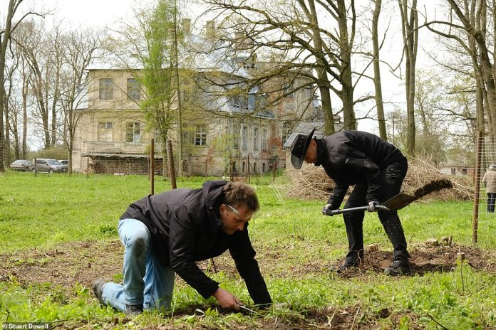 Treasure hunters have started digging for 10 tonnes of Nazi gold at an 18th century palace inMinkowskie, southern Poland