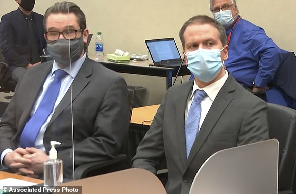 A jury took just ten and a half hours to find former Minneapolis police officer Derek Chauvin (right) unanimously guilty of murder and manslaughter charges in the death of George Floyd