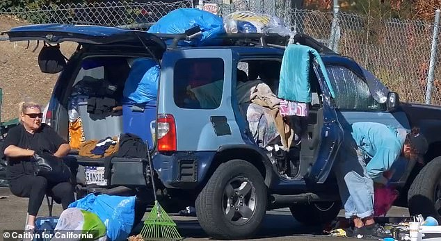 Jenner also used photos of homeless Californians and beggars in her ad.