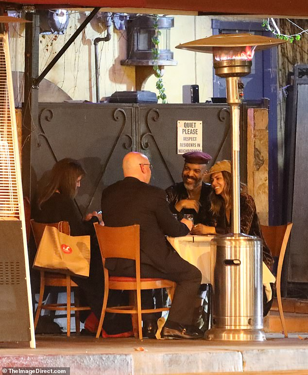 Lovers in LA: Halle Berry looked seduced on a romantic double date with boyfriend Van Hunt and friends in Beverly Hills on Monday night
