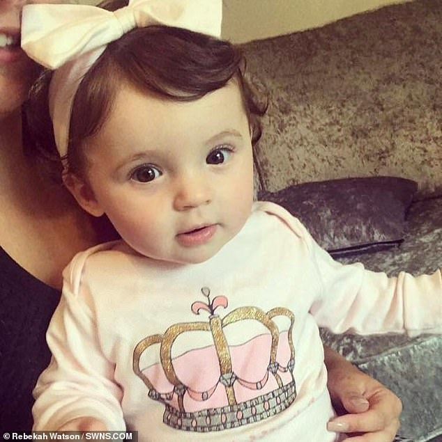 Lily Teale was rushed to a doctor's surgery after suffering a high fever, bouts of vomiting and diarrhoea on November 22, 2017