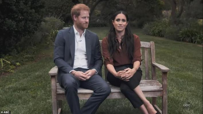 The Sussexes were seen sitting on a bench in the garden of their Montecito home in September last year when they urged Americans to 'reject hate speech' before the US election. However, in quotes promoting the book Meghan refers to a poem she wrote a month after Archie was born, when they were still in the UK
