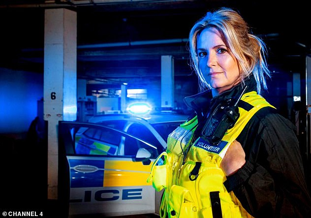 Wow: Sharing the news on Loose Women, Penny said: 'I finally got my warrant card and a City of London police badge!' (pictured on Channel 4's Famous and Fighting Crime)