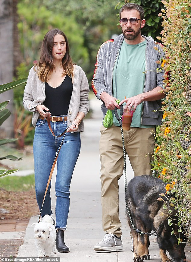 Past love: Ben Affleck split with actress Ana de Armas in January this year after a whirlwind romance