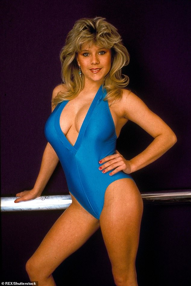 Coming out: Samantha (pictured during her glamour model days in 1984) gave a statement about her sexuality in 2003 - the year she embarked on a relationship with Myra