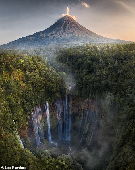 A beautiful shot of the Tumpak Sewu Waterfall in East Java, Indonesia. Lee says: 'This place is straight from the movies. The topography is like nothing I've ever seen before. Huge waterfalls and giant volcanoes will help take your landscape photography to a different level'