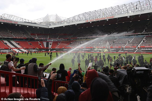 Fans stormed Old Trafford on Sunday leading to a game with Liverpool being postponed