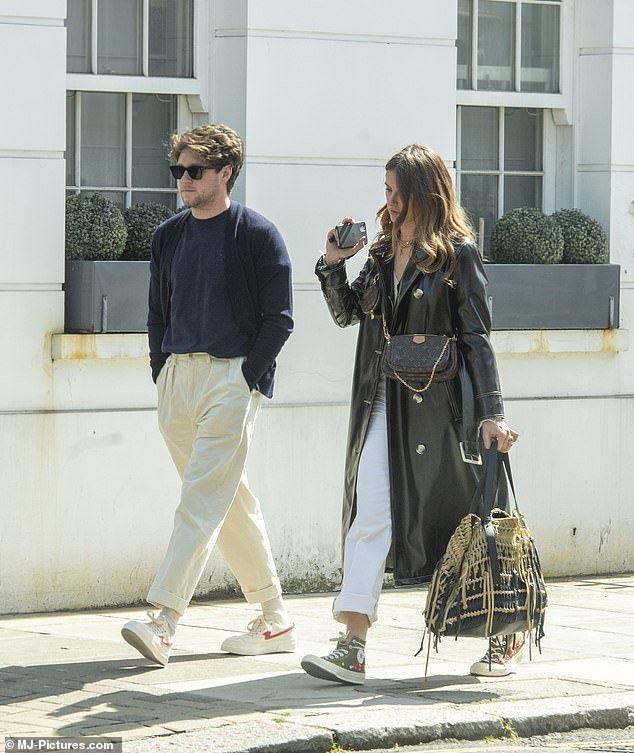Private: MailOnline revealed in July 2020 that Niall was in a relationship with Amelia and getting to know each other while on lockdown intensified their feelings (pictured on Tuesday)