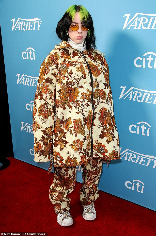 Covered up: Traditionally, the singer has been known for her oversized,baggy style clothes