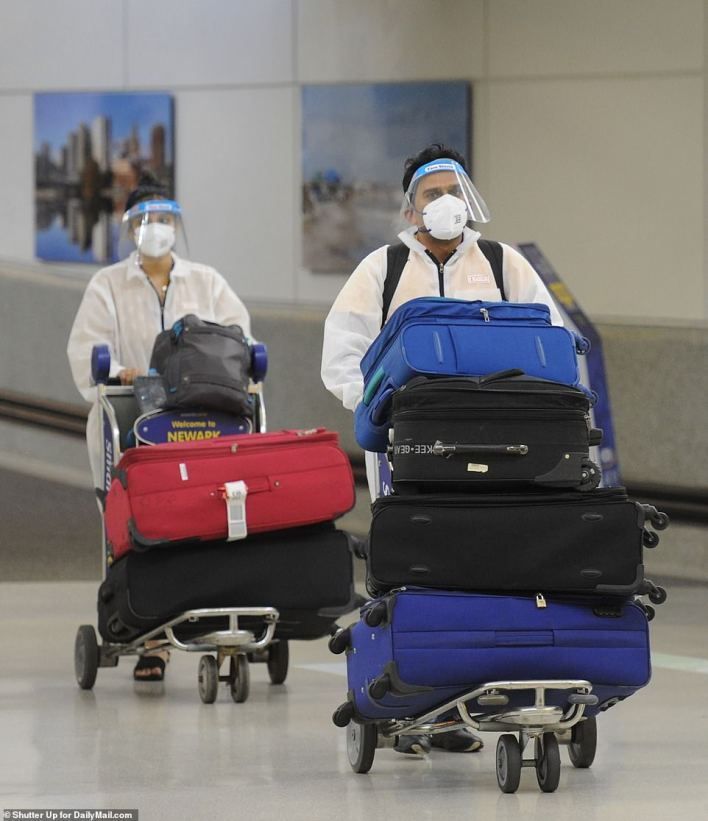 Some of those on board the direct flights were wearing full hazmat suits out of an abundance of caution over the new India variant