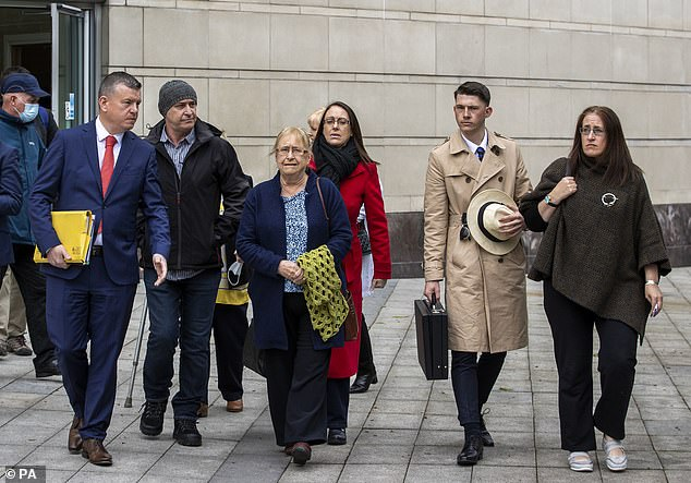 Prosecutors will re-examine evidence in seven other cases involving veterans following the collapse of the McCann case. Pictured: McCann's familiy