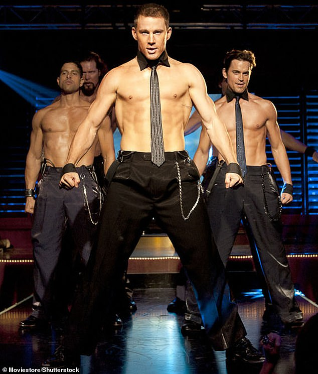 Wow:The Magic Mike (pictured) star insisted he is only in such good shape because his work often requires him to take his clothes off