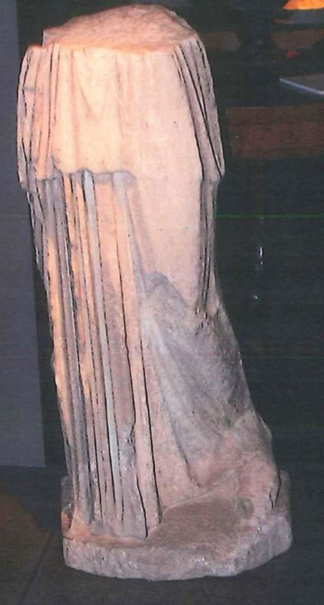 The Ancient Roman statue was described as Fragment of Myron Samian Athena