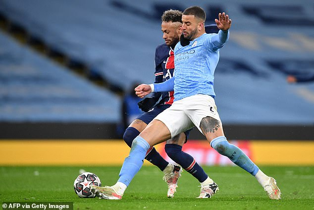 Kyle Walker has been in immense form for Manchester City recently, and impressed again