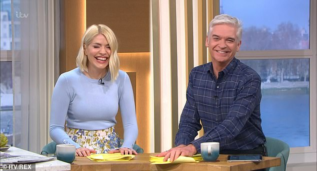 """Swipe: In a pilot he filmed in 2019, Paul reportedly called Holly and Phil (pictured by This Morning) 'the couple who get fucked if someone says """"clochard""""'"""