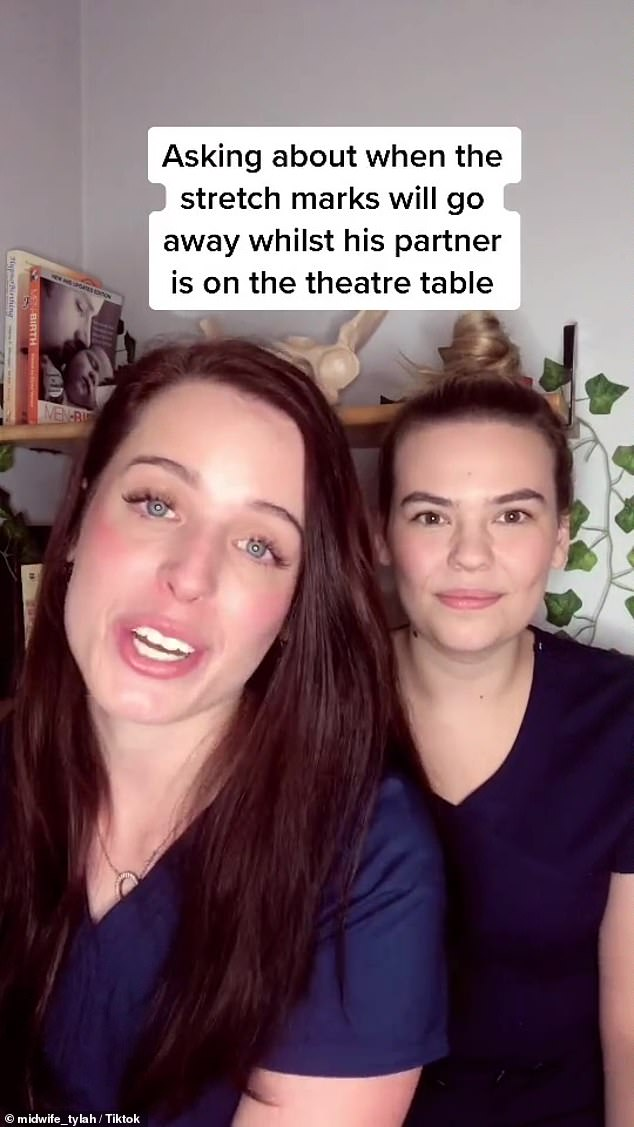 The very awkward moments were shared by Midwife Tylah on her TikTok account by the same name
