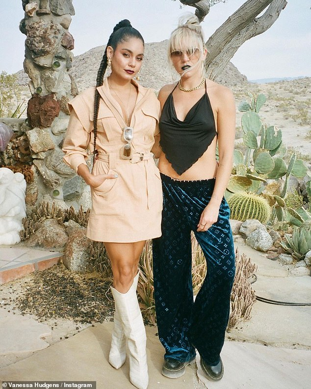 Weekend escape: The ladies enjoyed a desert chic weekend in Joshua Tree to celebrate the launch of Cali Water — Vanessa's latest business venture