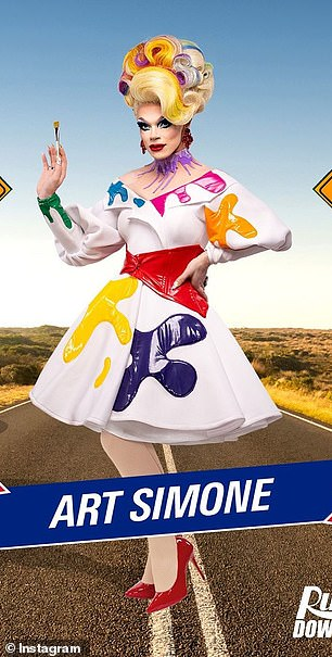 At the top of her game: The current reigning 'Queen of Australia', Art Simone has featured in films, theatre shows, television programs and commercials, as well as being awarded Drag Performer of the Year for the last two years running