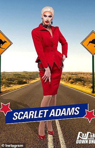 Dedicated: A burlesque performer, pole dancer, costume designer and self-proclaimed 'party girl', Scarlet Adams has worked tirelessly to build her reputation as a drag artist