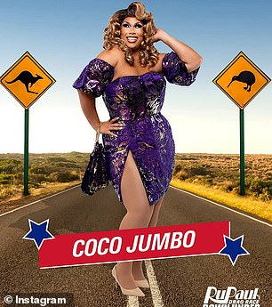 With the stars: Coco Jumbo has worked with Absolutely Fabulous' Jennifer Saunders and Joanna Lumley, 2014 Eurovision winner Conchita Wurst, and Australia's very own Sandra Sully