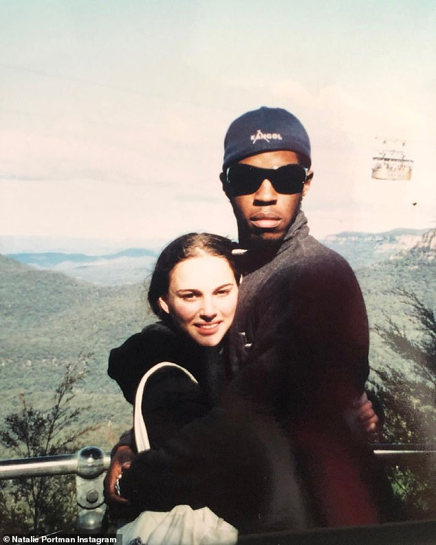 TBT: On Wednesday, Natalie Portman looked back on a previous trip Down Under, when she filmed a Star Wars: Episode II in Sydney in 2001. Seen here with Ahmed Best [R]