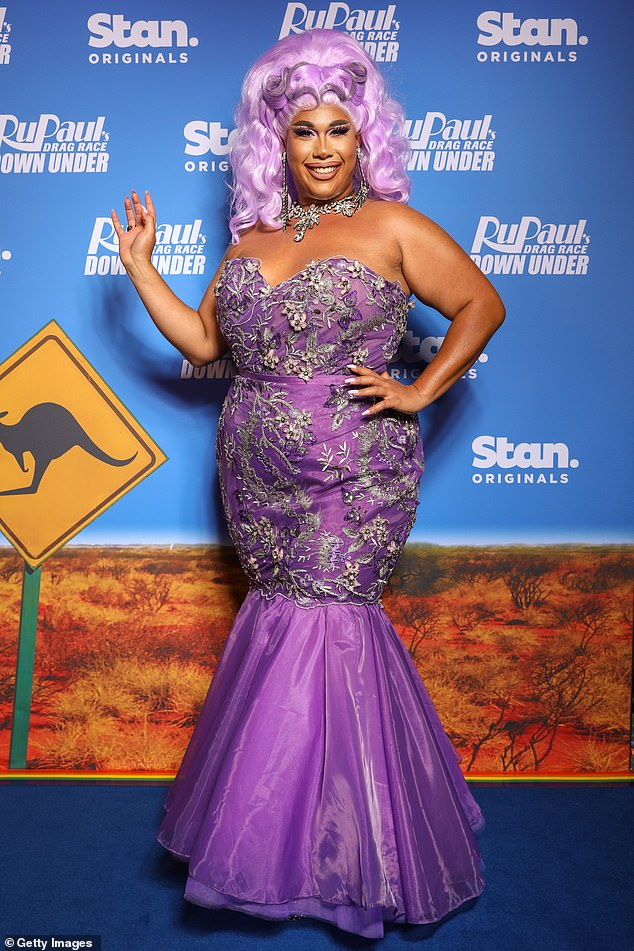 Quite the CV! Coco has performed on the Mardi Gras party main stage numerous times and is a multi DIVA (Drag Industry Variety Awards) award winner. Pictured at the Stan Original Series RuPaul's Drag Race Down Under launch event in Sydney