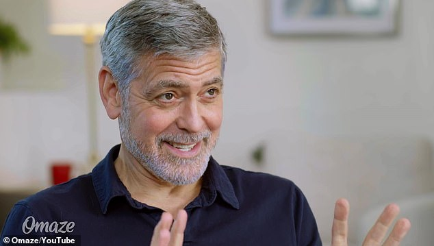 Big fan:George Clooney is teaming up with Omaze for a new charitable venture, and he starred in a hilarious new video to promote it, where he proved to be Brad PItt's biggest fan... and also one stranger's worst roommate