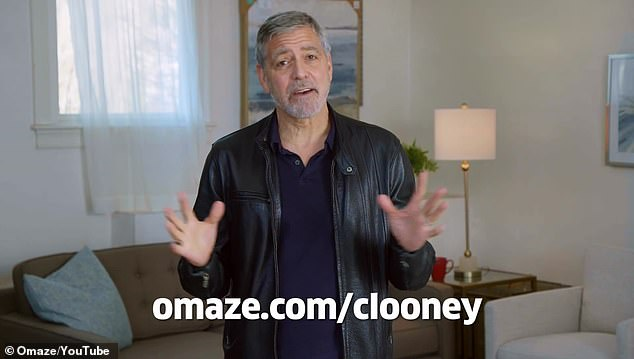 Website:The video ends with Clooney directing fans to Omaze.com/Clooney , where you can donate and enter to win this once-in-a-lifetime experience