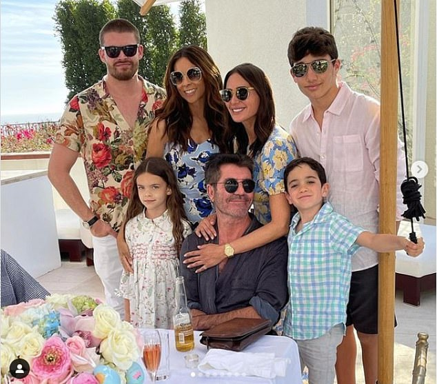 Blended Family: Continuing to prove that there is no bad blood between the couple or their former partners, he and Lauren enjoyed Easter with their son Eric, son Adam (from former husband Andrew) and the former Cowell's partner, Terri;  photographed on April 4