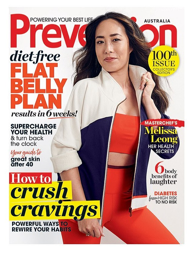 Chic and sporty!  MasterChef Australia judge Melissa Leong, 39, looked effortlessly stylish as she posed in dynamic sportswear on the cover of Prevention magazine's 100th issue this month.