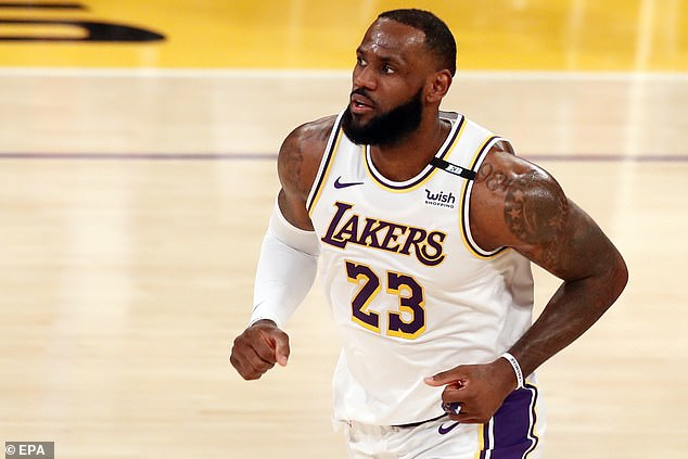 Basketball superstar LeBron James appeared to express regret about a tweet he posted last month about the police-involved shooting death of Columbus, Ohio teen Ma'Khia Bryant. James is seen above in Los Angeles on Sunday