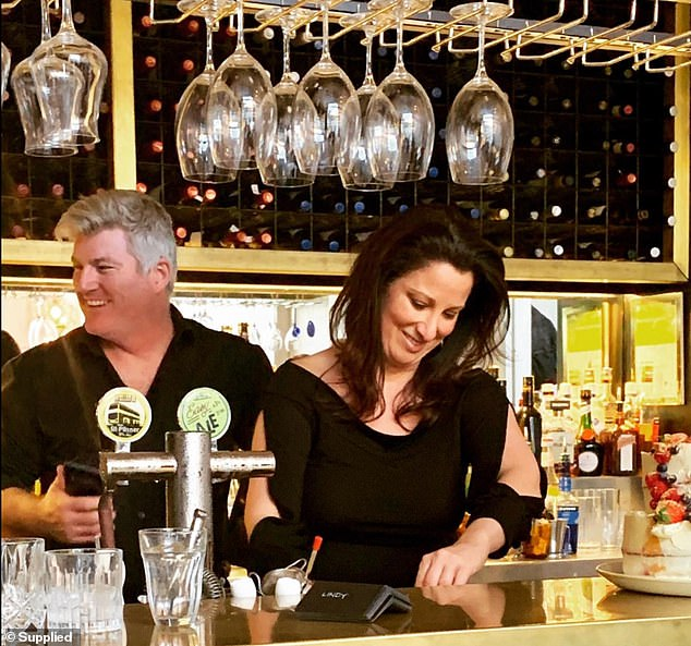 MacGill and Ms O'Meagher behind the bar at the restaurant they have ran together for years