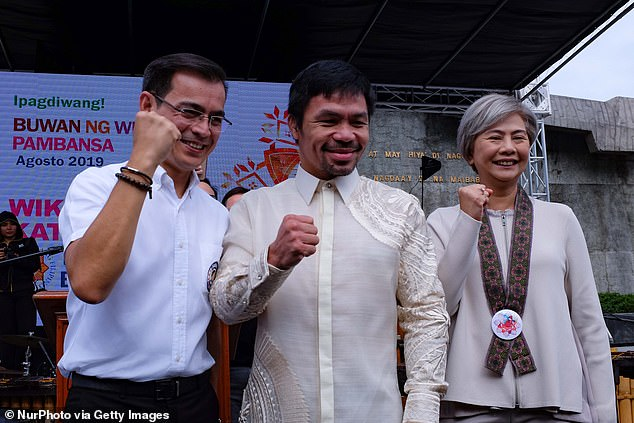 Pacquiao has a promising political career outside of the ring and is Philippines' Senator