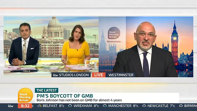 GMB clash with minister over Boris Johnson avoiding interview
