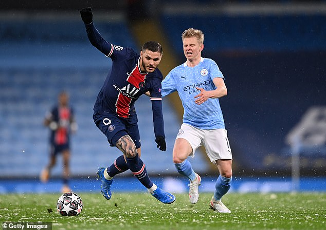 Mauro Icardi (L) was the only player on the pitch at the Etihad to get a lower score than Neymar