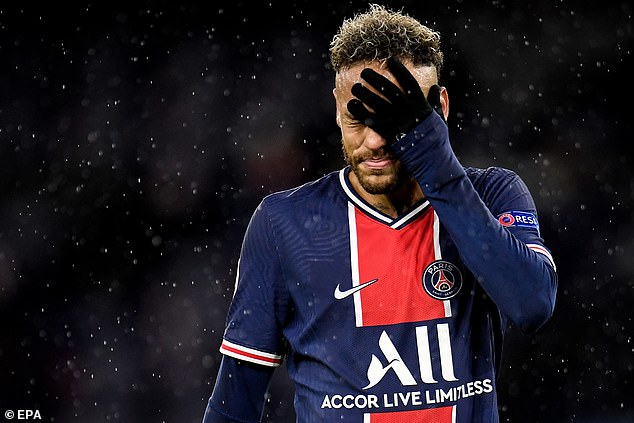 Neymar endured another extremely frustrating night with Paris Saint-Germain in Europe