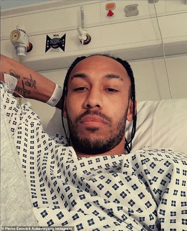 Aubameyang was hospitalised after contracting malaria on international duty with Gabon