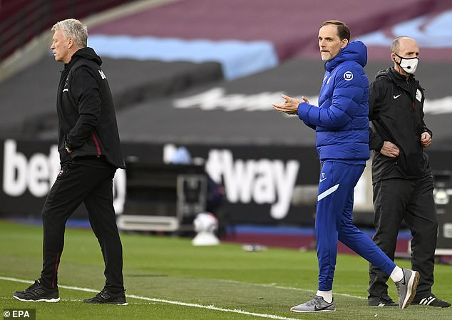 David Moyes (left) is reportedly battling it out with Thomas Tuchel (right) for the £35m man
