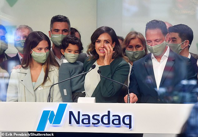 'This is a monumental day for Honest as we officially become a public company,' Alba said. 'Now, more than ever, health and wellness have taken center stage. Looking back on 2020, i think we can all agree that in order to thrive, you need your health.