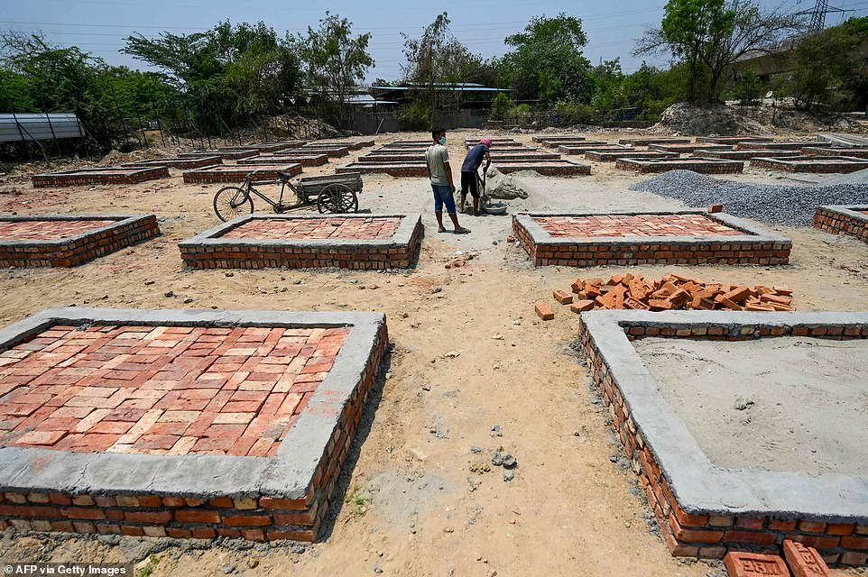 Hindu tradition states that bodies must be burned within 24 hours of death, meaning crematoriums have been forced to expand to deal with the number of Covid victims