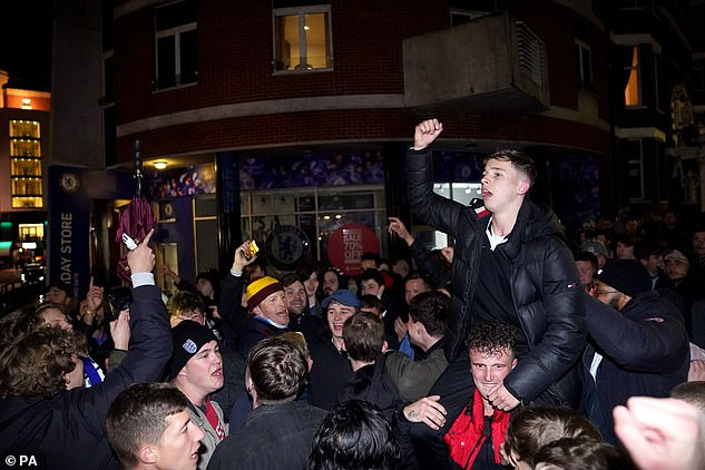 Supporters were celebrating a first Champions League final in nine years after the game