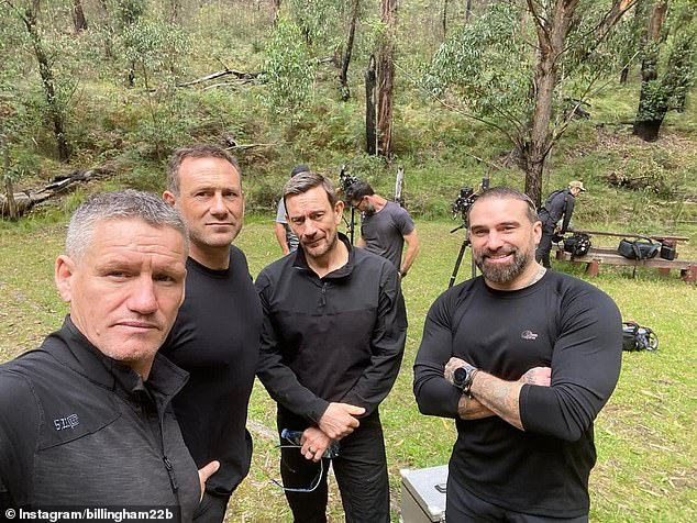 They're back: Chief Instructor Ant Middleton (right) is returning with his directing staff - Mark (right), Matthew Ollerton (second) and Jason Fox (third) for season two