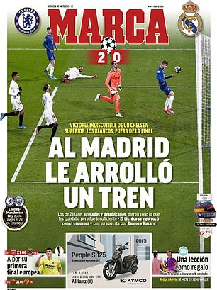 Marca said Real Madrid were 'rolled over by a train'