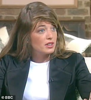 Way back when: Claudia Winkleman looks almost unrecognisable in an unearthed BBC clip from 1996 where she appears as a 'chat up connoisseur'