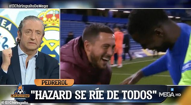 El Chiringuito splashed 'Hazard laughs at everyone' across the screen as they discussed him