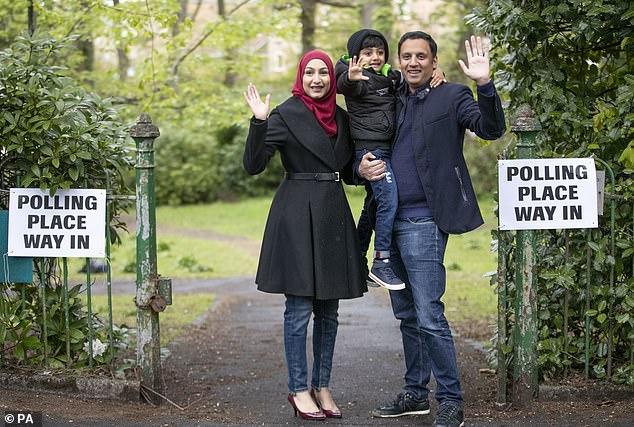 Scottish Labour, under new leader Anas Sarwar (pictured voting with his family in Glasgow today), is hoping it can make gains and start to reverse the decline in fortunes the party has suffered in more recent years