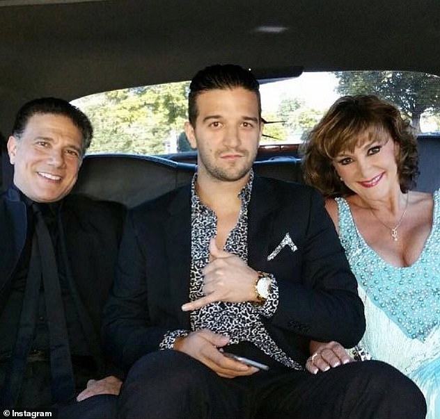 Pregnancy: In one part of her memoir, the dancer claims that her ex-husband, Corky, 'fat-shamed' her while she was pregnant with their son Mark, now 34 (all pictured together)