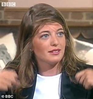 Archive: The clip was shared by the BBC Archive's Twitter account and Claudia looked almost unrecognisable