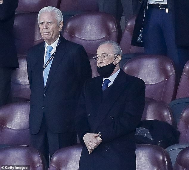Florentino Perez's (right) dream of joining a European Super League is also down the drain